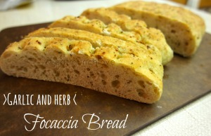 garlic and herb focaccia bread