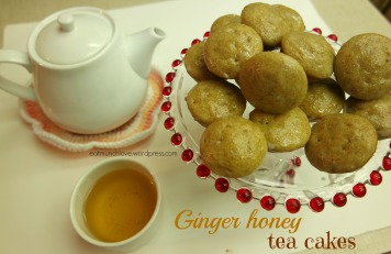 Ginger honey tea cakes