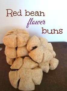 red bean flower buns