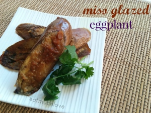 miso baked eggplant