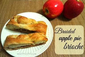 braided apple cinnamon brioche bread