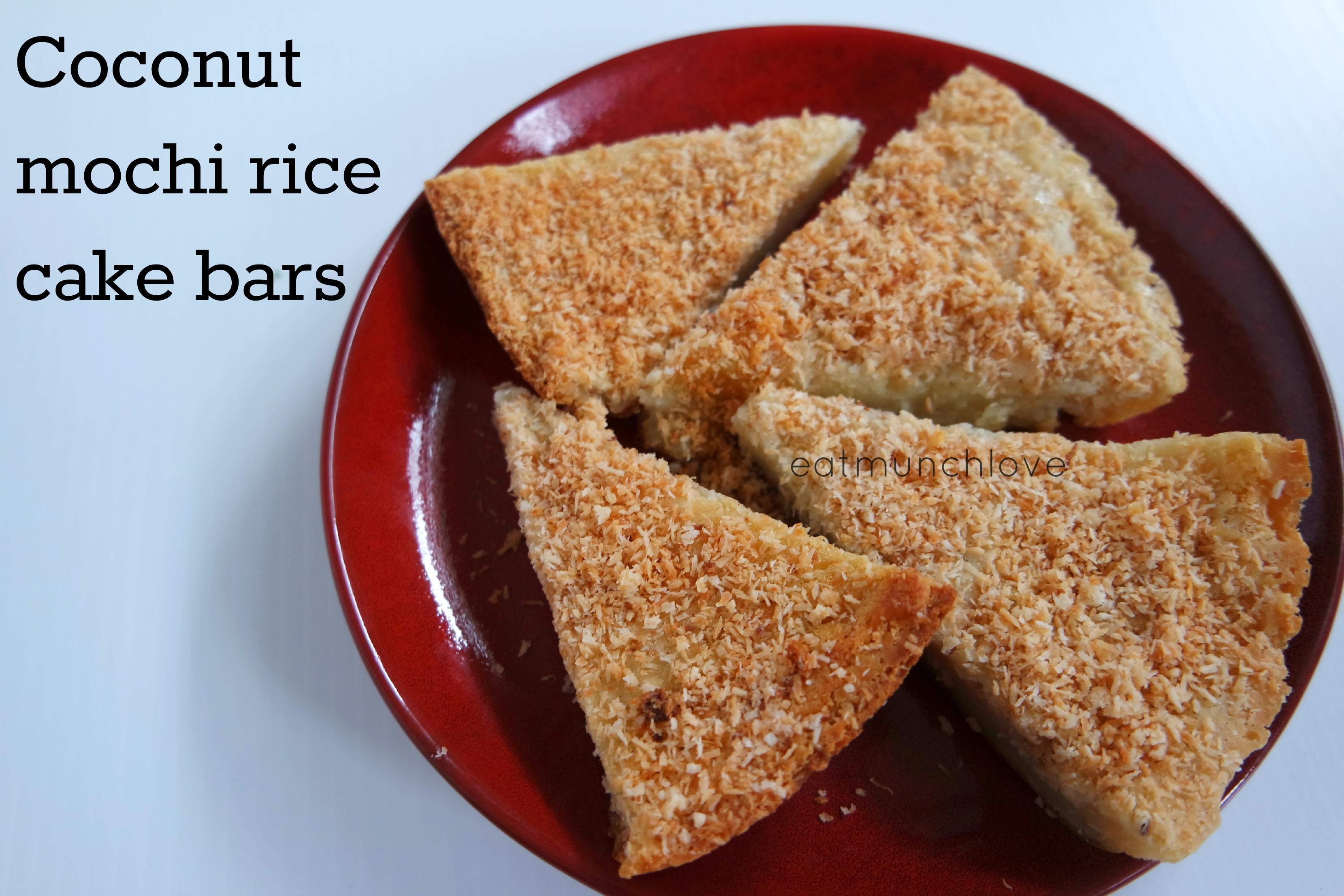 Baked Coconut Mochi Rice Cake Gluten Free Eatmunchlove