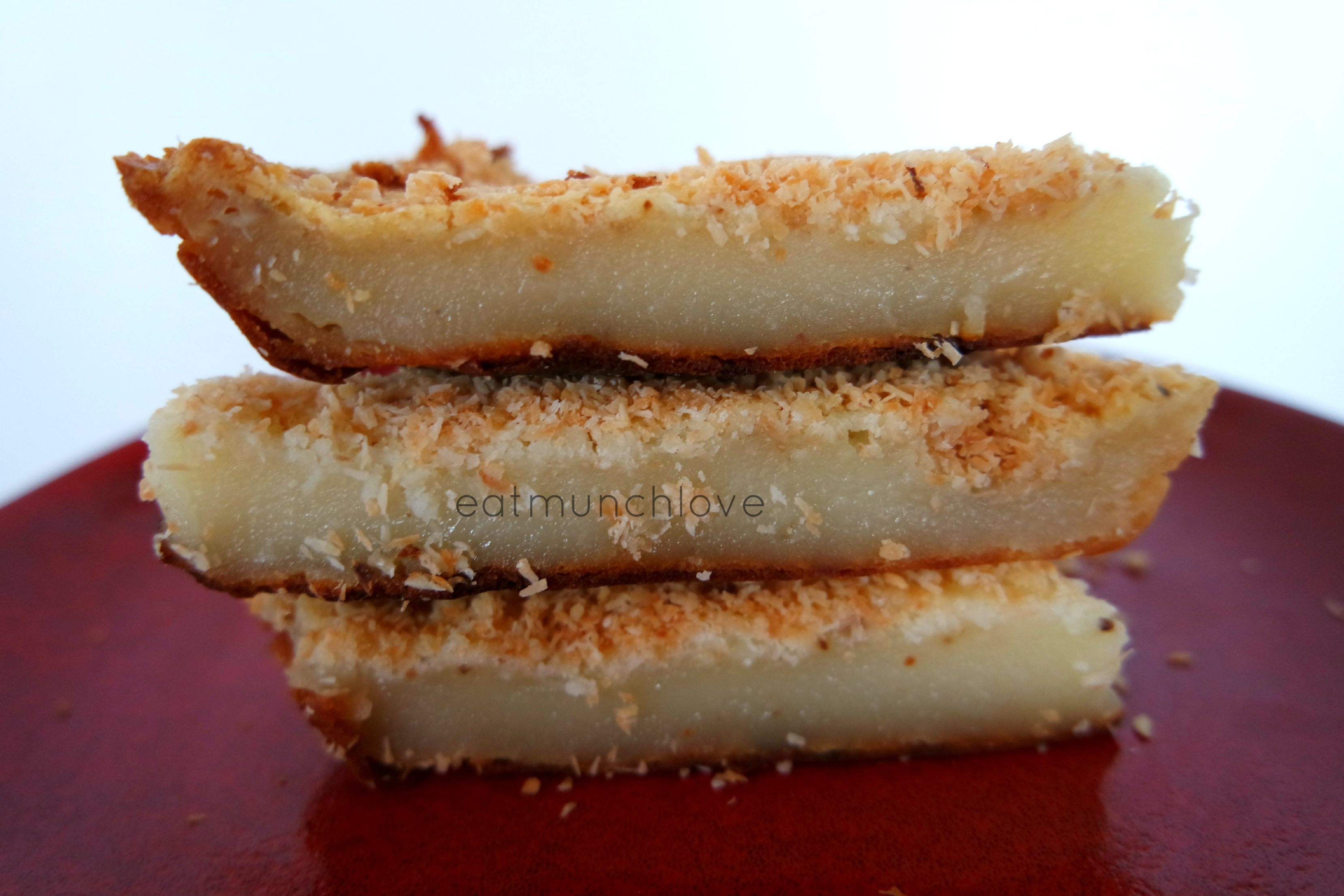 Coconut Mochi Rice Cake Bars