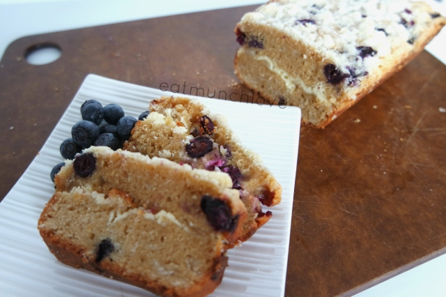 blueberry cheesecake loaf