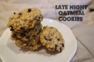 late night oatmeal cookies